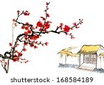 classic china  chinese painting ... | Shutterstock . vector #168584189