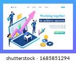 isometric business concept ... | Shutterstock .eps vector #1685851294