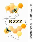 vector illustration. bees with... | Shutterstock .eps vector #1685862841