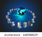 concept of globalization and... | Shutterstock .eps vector #168588029