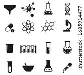 science laboratory icons on... | Shutterstock .eps vector #1685914477