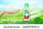 hand sanitizer gel ads.... | Shutterstock .eps vector #1685930911