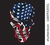 american flag skull isolated... | Shutterstock .eps vector #1685933551