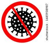 ban virus danger sign on white...   Shutterstock . vector #1685938987