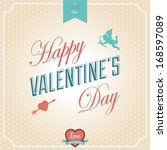 happy valentine's day card  ... | Shutterstock .eps vector #168597089