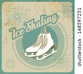 ice skating card in retro style.... | Shutterstock .eps vector #168597251