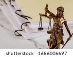 Justice Statue With Document...