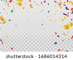 holiday balloons and confetti...   Shutterstock .eps vector #1686014314