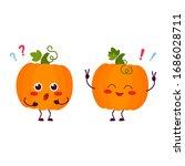 Pumpkin. Cute Cartoon Character....