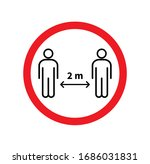 social distancing. keep the 1 2 ...   Shutterstock .eps vector #1686031831