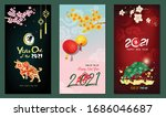banner happy new year 2021.... | Shutterstock .eps vector #1686046687