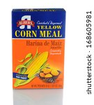 Small photo of IRVINE, CA - JANUARY 11, 2013: A 20 oz box of Albers Yellow Corn Meal. Introduced in 1895 by Bernhard Albers, a young German immigrant, in Portland Oregon.