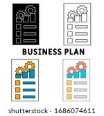 business plan icon in different ...