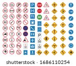 common traffic sign icon set... | Shutterstock .eps vector #1686110254