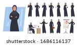 arab businesswoman character.... | Shutterstock .eps vector #1686116137