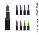 lipstick icon. set of vector... | Shutterstock .eps vector #1686128281