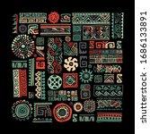 ethnic handmade ornament for... | Shutterstock .eps vector #1686133891