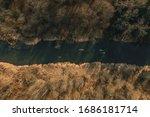 River Kayaking Aerial Photo In...