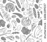 vector seamless pattern with ... | Shutterstock .eps vector #1686189037