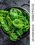 Fresh Spinach Leaves In A...