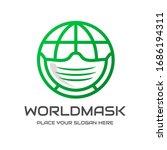 world mask vector logo template.... | Shutterstock .eps vector #1686194311