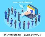 men and women in business suits ... | Shutterstock .eps vector #1686199927