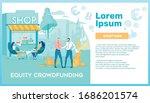 coffee shop equity crowdfunding ...   Shutterstock .eps vector #1686201574