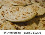 traditional food pitta bred.... | Shutterstock . vector #1686211201