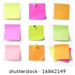 colored notes paper | Shutterstock . vector #16862149