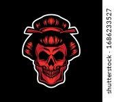 red skull geisha for commercial ...   Shutterstock .eps vector #1686233527