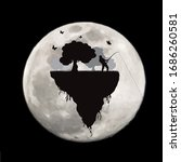 vector silhouette of piece of... | Shutterstock .eps vector #1686260581