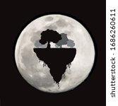 vector silhouette of piece of... | Shutterstock .eps vector #1686260611