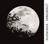 vector silhouette of branch... | Shutterstock .eps vector #1686260617