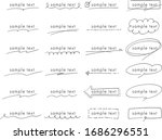 decoration set of title and...   Shutterstock .eps vector #1686296551