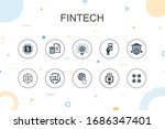 fintech trendy infographic...