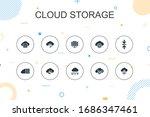 cloud storage trendy...   Shutterstock . vector #1686347461
