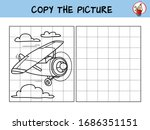 funny little airplane. copy the ...   Shutterstock .eps vector #1686351151