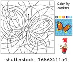 Butterfly Flying. Color By...