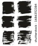 flat paint brush thin half...   Shutterstock .eps vector #1686352384