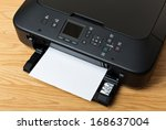 domestic printer and paper | Shutterstock . vector #168637004
