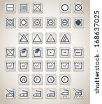 set of washing and laundry icons | Shutterstock . vector #168637025