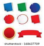 blank stickers label  ribbon | Shutterstock . vector #168637709