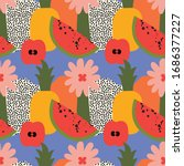 abstract bright fruits seamless ... | Shutterstock .eps vector #1686377227