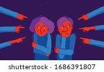 shaming and blaming vector...   Shutterstock .eps vector #1686391807