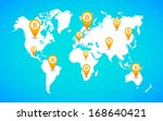 illustration of a map of the... | Shutterstock .eps vector #168640421