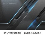 abstract metal background with... | Shutterstock .eps vector #1686432364