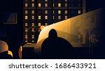coronavirus quarantine or...   Shutterstock .eps vector #1686433921