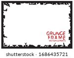 black grunge frame. abstract... | Shutterstock .eps vector #1686435721