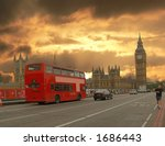 london street at sunset | Shutterstock . vector #1686443