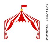 tent circus icon on white...   Shutterstock .eps vector #1686451141